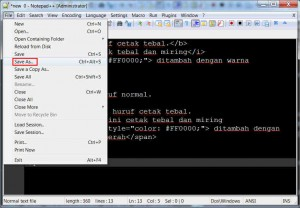 latihan 4 - 01 - notepad++ save as 1